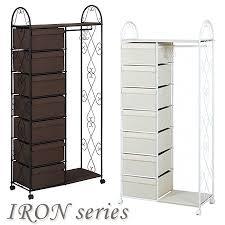 Princess Coat Rack livingut Rakuten Global Market Seven cups of iron frame drawer 80