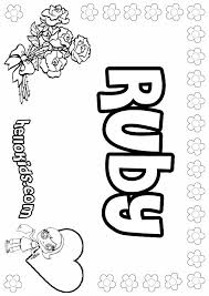 Small Picture Ruby coloring pages Hellokidscom