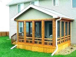 glassed in porch porch cost glassed concrete porch cost per square foot
