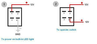 4 pin led switch wiring