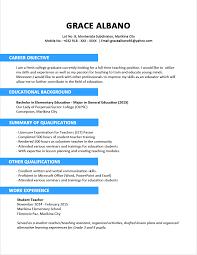 Sample Resume Format Resume For Study