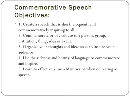 Template For A Speech Commemorative Speech Template
