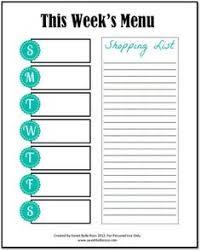 46 Best Free Printable Menu Planners Images Calendar Stationery