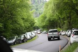 Image result for images of traffic in great smoky mountain national park