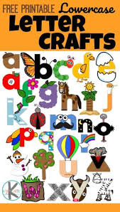 Free color flashcards for kindergarten & preschool! Free Uppercase And Lowercase Letter Crafts