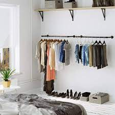 wall mounted clothes rack