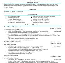Download Direct Support Professional Resume