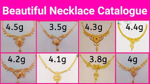 Gold Cheek Necklace Design Simple Lightweight Gold Necklace With Weight Latest Jewellery Designs