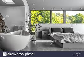 Moderner Luxus Wohn Schlafraum Oder Hotel Schlafzimmer Mit Einem