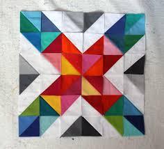 bright quilt | WOMBAT QUILTS & hst quilt block Adamdwight.com