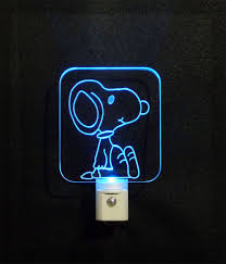 Charlie Brown Night Light Charliebrown Snoopy Led Nightlight Add A Name For