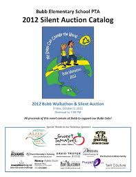 silent auction program template bubb elementary school mtn view calif 2012 silent auction catalog