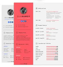 50. Free clean interactive template by Ola Hamdy. 70 Well-Designed Resume  ...