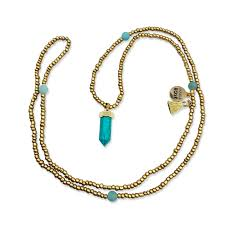 turquoise gold pendant necklace