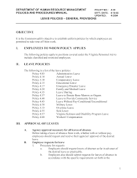 policy templates free company leave policy templates at allbusinesstemplates com