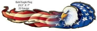 patriotic american bald eagle metal
