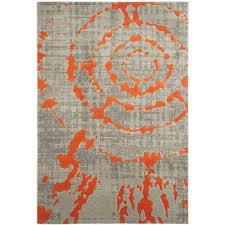 amazing grey and orange rug or deasia light gray orange area rug 13 blue grey orange