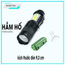 Đèn Pin Led Mini Siêu Sáng Cầm Tay Có Zoom Phóng To Thu Nhỏ Sạc Pin USB
