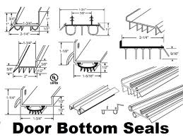 door bottom sweeps and door bottom threshold seal system