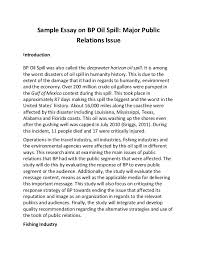 sample essay on bp oil spill sample essay on bp oil spill major public relations issue introduction bp oil spill was