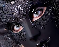 black full face masquerade mask mask