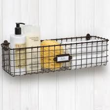 wall mounted wire basket vintage image any image to view in high resolution