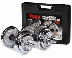 york 40 lb adjustable dumbbell set. 40 lb. york chrome adjustable dumbbell plastic case set lb sports and outdoors clearance
