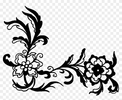 flower black and white clip art flower black and white clip art