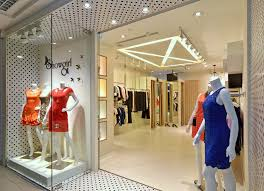Boutique Store Interior Design Come With Glass Storage Space With Wood  Ivory Floor And