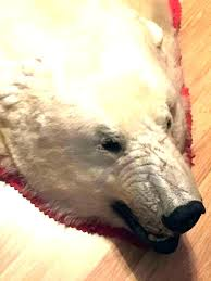 polar bear rug real suppliers and at with head fake white teddy closed faux fur whi