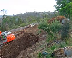 while we would have loved more flat ground we couldn t afford to build retaining walls everywhere instead we designed large earth banks with an angle of