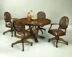 dining room chairs with rollers dining room chairs with casters image of kitchen chairs with rollers