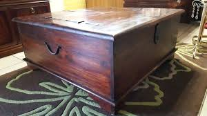 beautiful rustic solid oak chest coffee table antique trunk
