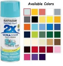 Rust Oleum American Accents Color Chart 67 Exact Rustoleum Spray Paint Chart
