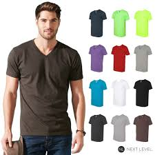 Details About Next Level Mens Fitted Simple Plain Cvc V Neck Tee T Shirt 6240 S 2xl