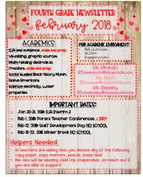 February Newsletter Template February Newsletter Template Hearts