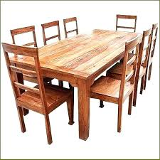 cool rustic dining room table and chairs
