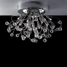 brushed nickel mini crystal chandelier