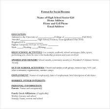 High School Senior Resume Examples 13 Msdoti69
