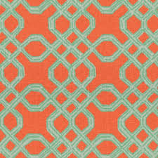 lilly pulitzer fabric for sale. Plain Pulitzer Lee Jofa Well Connected Aqua  Orange 2011101125 By Lilly Pulitzer  Multipurpose Fabric On For Sale A