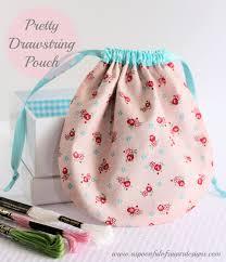 Drawstring Bag Pattern Extraordinary Pretty Drawstring Pouch Tutorial A Spoonful Of Sugar