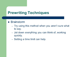 Prewriting Techniques Writing About Literature Methods And Approches Prewriting