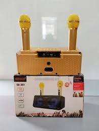 Loa Karaoke Bluetooth SD-301 siêu nhỏ gọn tặng kèm micro không dây