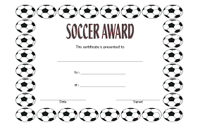 Soccer Certificate Templates For Word Award Certificate Template For Word Certificate Template Soccer Free