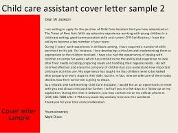 cover letter sample 3 child care sample cover letter for child care worker