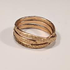 32318 13 14 14 gold filled trifinity ring size 6 75