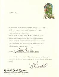mars hotel permission letter grateful dead grateful dead