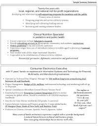 33 Vast Resume Overview Examples Nadine Resume
