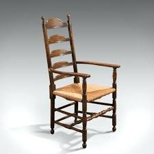 ladder back carver chairs pair oak carver armchairs with rush seats sold ladder back carver chairs