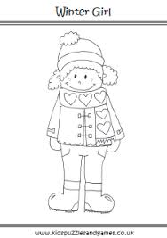 Winter Girl Coloring Sheet Kids Puzzles And Games